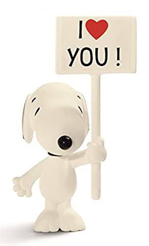 Schleich 22006 - I love you Snoopy, Spielzeugfiguren (Peanuts Snoopy Charlie Brown)