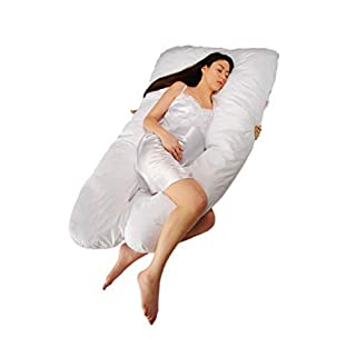 Sanggol HS_1002 Full Body Pregnancy and Maternity Pillow, Breastfeeding and Nursing Pillow with Washable, Replaceable Case, Regular (142 x 86 centimeters)