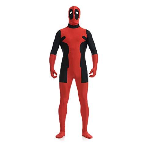 ool, Deadpool Kostüm Cosplay Kostüm Bodysuit Spandex Zentai Overalls Halloween Weihnachten Kostüm anzeigen,Deadpool-XL(170-180cm) ()