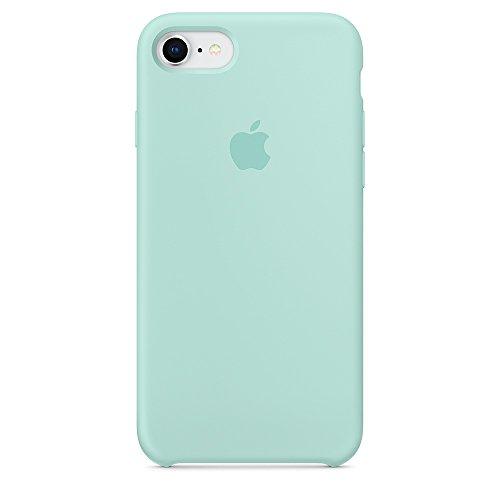Funda para iPhone 7/8 iPhone 7Plus/8Plus Carcasa Silicona Suave Colores del Caramelo con Superfino Pelusa Forro,Anti-rasguños Teléfono Caso para Apple 7/8 7P/8P (iPhone 7/8, Verde mar)