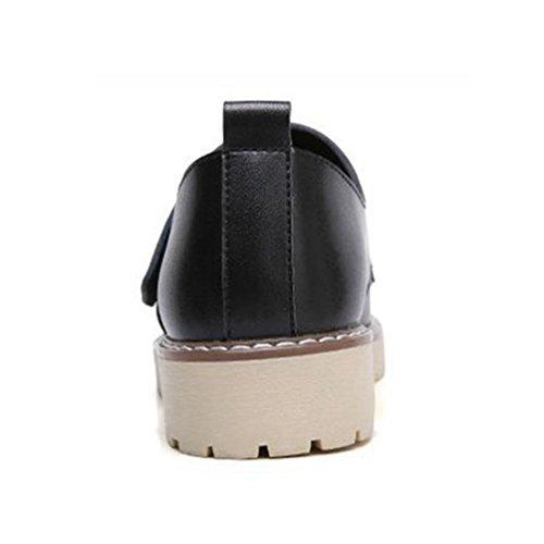 968c3c3a6aa Noir De Marcher Jrenok Femme Sneakers Ville Cuir Derbies Baskets 35  Plateforme Casual 40 Confortable Chaussures ...