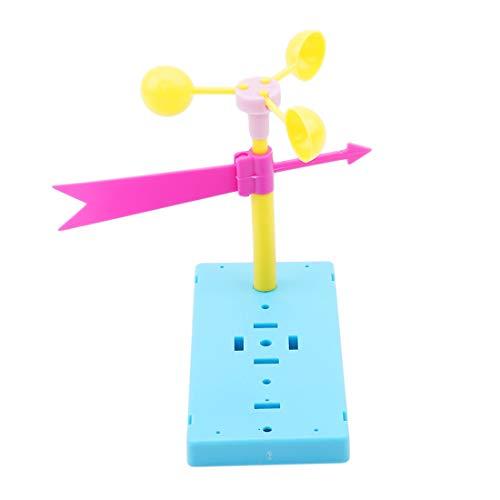 VWH Windfahne Montage Modell Spielzeug Kinder DIY Materialien Wissenschaftliches Experiment Spielzeug Frühen Lernspielzeug