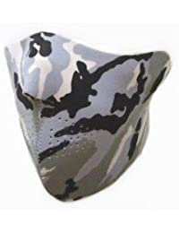 7X - Máscara protectora de media caña (protección de neopreno, talla única, apto para uso en exteriores, para esquí, snowboard, surf, moto y bicicleta, así como para airsoft, paintball), diseño de camuflaje urbano