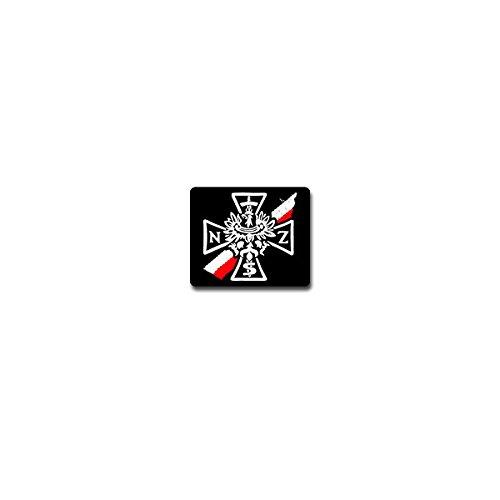 Copytec Aufkleber/Sticker - Narodowe Sily Zbrojne Nationale Streitkraft NSZ Polska Polen Fahne Adler Polnische Armee Untergrundorganisation Wk Abzeichen Emblem 8x7cm #A4075 -