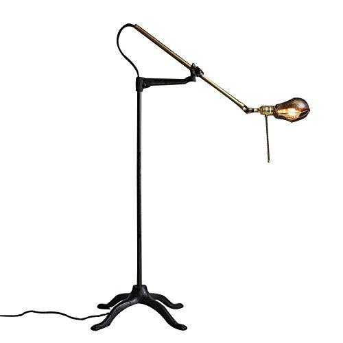 GBT Lange Arm von Eisen Stehlampe Imitation Kupfer Industrielle Wind Retro Stehlampe Wohnzimmer Studie Schlafzimmer Stehlampe Indoor Floolr Lampe -