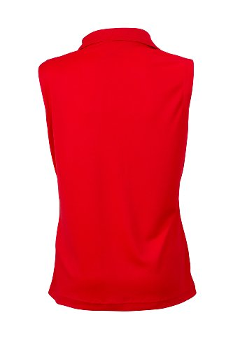 Ladies' Active Polo Sleeveless im digatex-package Red