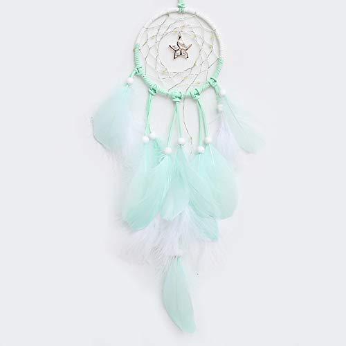 rnetz Traumnetz Patio Kinder Quaste-traumfänger Die Halloween-Party Kinderzimmer Mobile Led Wandbehang Feather Dreamcatcher Traumfänger Green ()