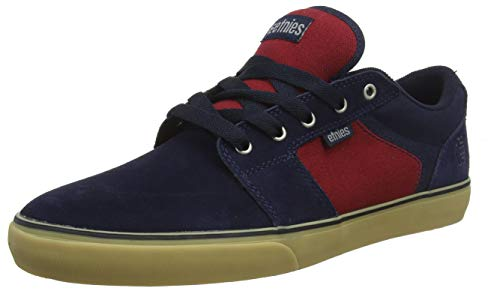 Etnies Men's Barge LS Skateboarding Shoes, Blue (Navy/Red/Gum-466 466), 7 UK 41 EU -