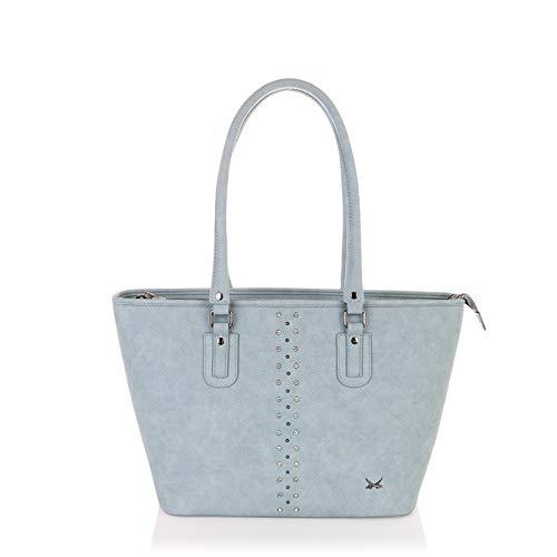 SANSIBAR-Damen Shopper Bag A4 38x29x13 165 - Sky