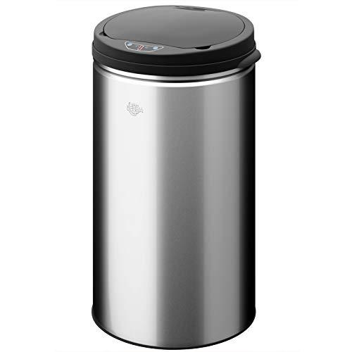 Abfalleimer / Mülleimer, automatisch, mit Bewegungssensor, Edelstahl, 56 l