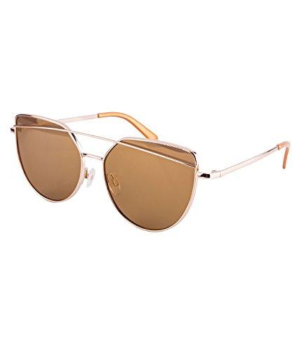 SIX Damen Sonnenbrille, Sonnenschutz, Cat Eye, braun, goldfarben (324-335)