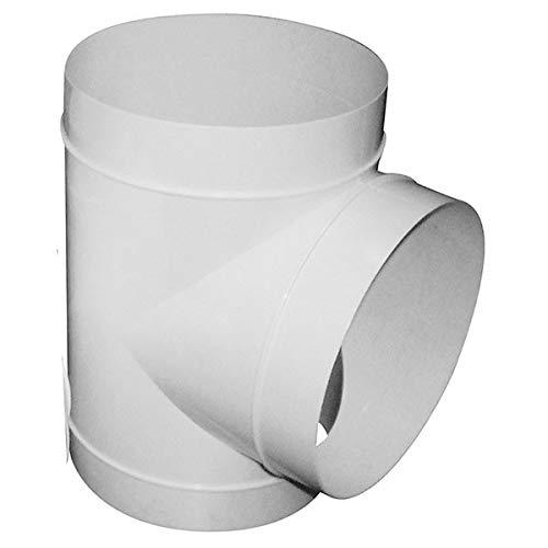 T de dérivation en PVC 3 x 100 mm- gaine de ventilation