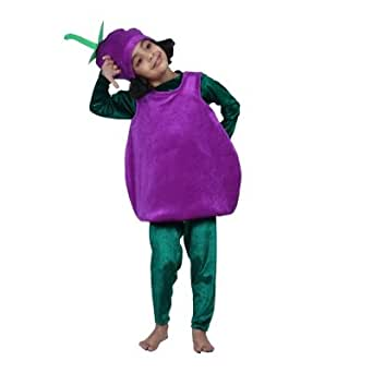 Fancy Dress Costume Brinjal With Cap
