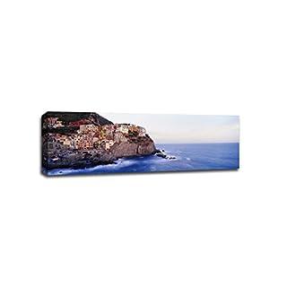 ArtsyCanvas Cinque Terre Liguria Italy Cityscape (36 x 12 Canvas), 36