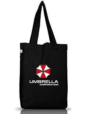 Shirtstreet24, Umbrella Corporation, Jutebeutel Stoff Tasche Earth Positive