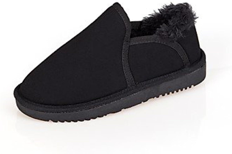 SHAOYE Mujer Zapatos Ante Invierno Botas de nieve Botas Tacón Plano Dedo redondo Para Casual Vestido Negro Beige...