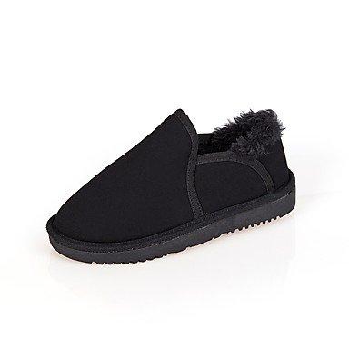 RTRY Scarpe Da Donna In Pelle Scamosciata Winter Snow Boots Stivali Tacco Piatto Punta Tonda Per Abbigliamento Casual Kaki Arrossendo Rosa Grigio Nero Beige US5.5 / EU36 / UK3.5 / CN35
