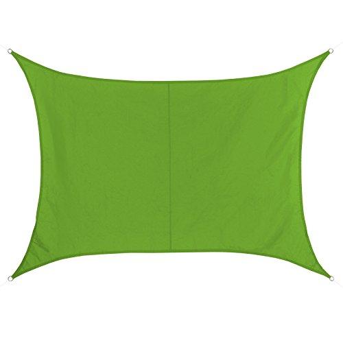 BB Sport Sonnensegel rechteckig in verschiedenen Größen und Farben wetterbeständig wasserabweisend Sonnenschutz 100% PES Sichtschutz Windschutz Tarp, Größe (Fläche):2m x 3m, Farbe:Smaragd