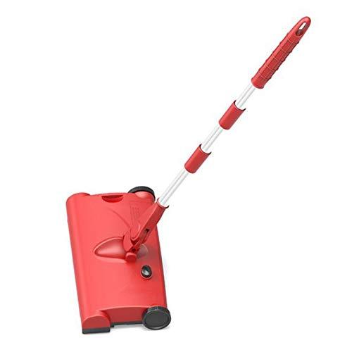 LAY Manuelle Kehrmaschine Staubsauger Kabellose wiederaufladbare elektrische Bodenbesen Kehrmaschine Heim für saubere Teppiche Hartholzboden Staubsaugerfunktion nass und trocken,A