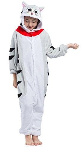 Pyjama Chat Enfant Combinaison Animaux Deguisement Integrale Jumpsuit Kigurumi Noël Halloween Hiver