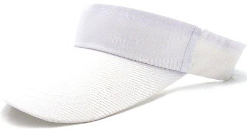 Cap sportliche Cappy oben offen Tennis Schirm-Muetze mit Klettverschluss WEISS 3038