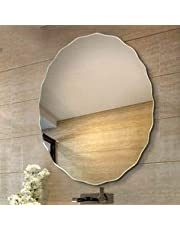 Quality Glass Frameless Decorative Mirror | Mirror Glass for Wall | Mirror for bathrooms | Mirror in Home | Mirror Decor | Mirror Size : 24X 24inch