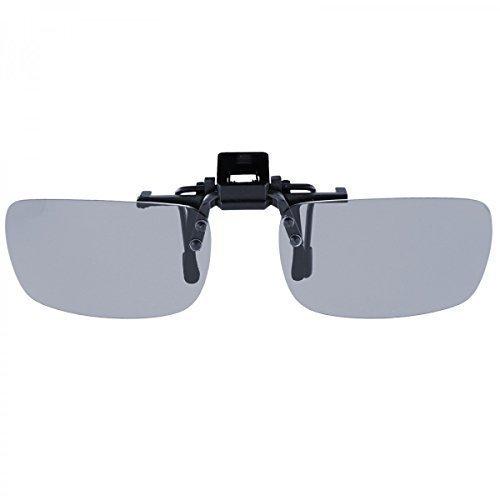 Sonnenbrille Pol Aufsatz Brillen Polarisiert Clip On Polbrille Brillenaufsatz, Linsenfarbe:Schwarz