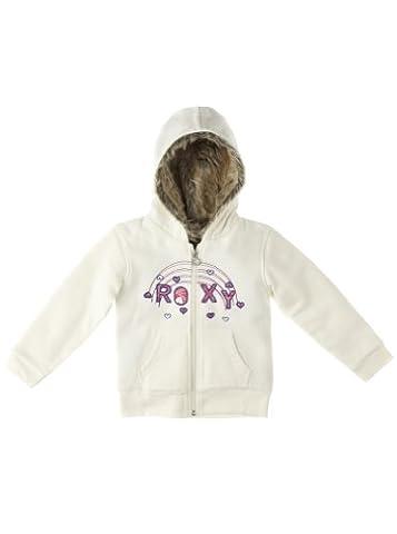 Roxy Kinder Kaputzen Fleece Sweatshirt Winter Time Zip, seaspray, 95 / 3 Jahre, WPISW032-SPR-95 / 3 Jahre