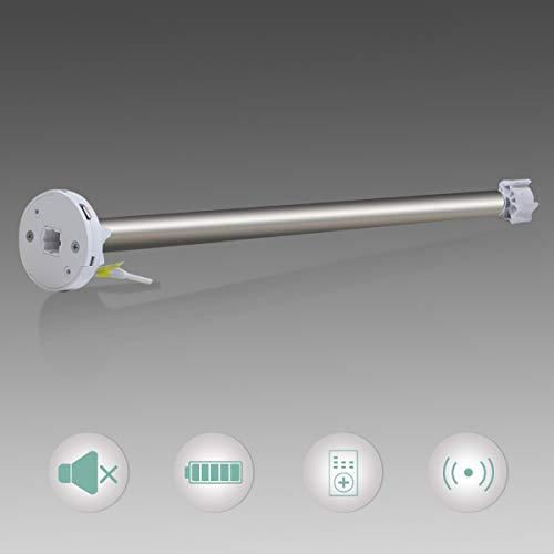 Grandekor Rohrmotor Rolloantrieb Elektrisch für 16mm Wellen von Doppelrollo Verdunklungsrollo Seitenzugrollo/Enthält 2m Ladekabel/Aufladen mit Powerbank oder Steckdose