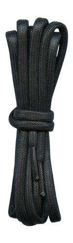 Fabmania Epais Lacets en Coton Cires - Noir - 5 mm diametre