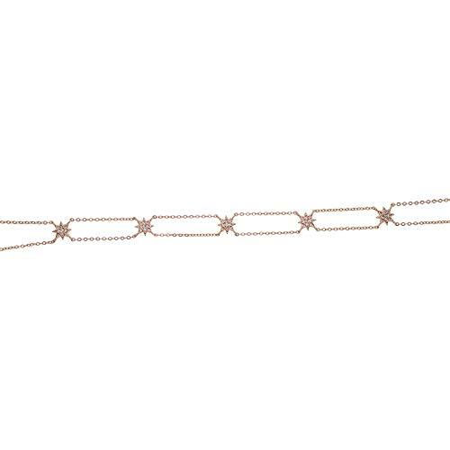 ZKZDSL Silberkette,Schmuck Halskette Elegante Hündin Schöne Schöne Halskette Mode, Modernes Und Schickes Halsband