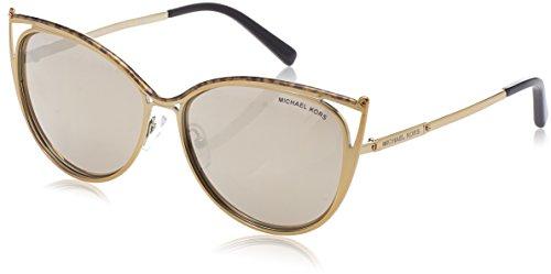 Michael Kors Damen INA 11645A 56 Sonnenbrille, Marble/Gold-Tone/Bronzemirror