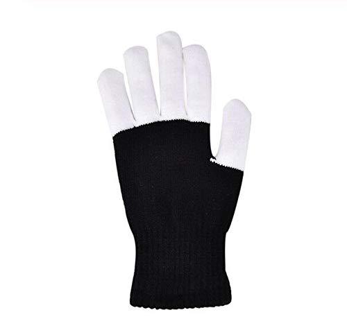 leuchtung Handschuhe Magie Schwarz leuchtende Handschuhe LED Glow Handschuhe Rave Leuchten Blinkende Finger Kinder Kinder Spielzeug Liefert ()