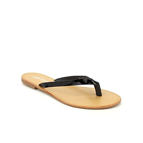 Cendriyon, Tong Color Noire Vernie MODA Chaussures Femme Noir