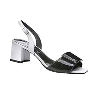 IAW Sandalette schwarz, Sandales pour femme - Noir - Noir, 35 EU