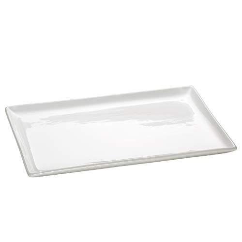 Maxwell & williams aa1743 - vassoio porcellana white basics, forma rettangolare, confezione regalo, 40 x 17 cm