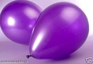 "25 x 14"" Purple Metallic Helium Wedding Birthday Celebration Party Balloons"