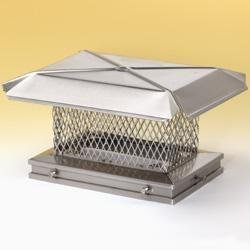 Chimney Savers 13315 Gelco Stainless Chimney Savers Cap - .625 Inch Small Mesh - 10 Inches x 17 Inches by Copperfield Chimney Supply