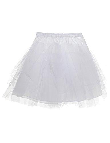 Preisvergleich Produktbild Topwedding Weiß Kinder Reifrock Mädchen Tüllrock Petticoat Unterrock Krinoline, Weiß