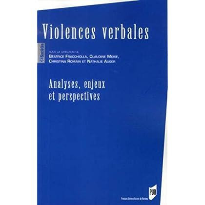Violences verbales : Analyses, enjeux et perspectives