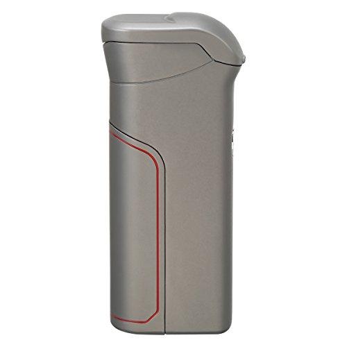 Preisvergleich Produktbild Qimaoo USB elektronisches Feuerzeug Dual Lichtbogen Sturmfeuerzeug Zigarettenanzünder Ohne Flamme Aufladbar Umweltfreundlich Winddicht Grau