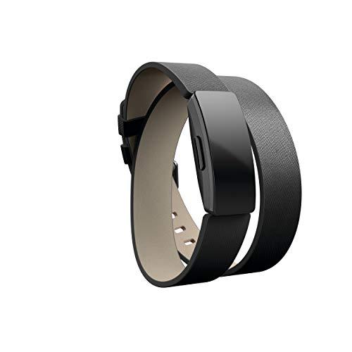 Imagen de fitbit inspire e inspire hr correas de doble vuelta de cuero horween, negro, una talla alternativa