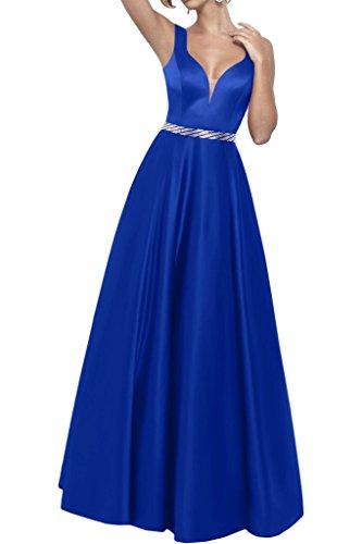 Promgirl House - Robe - Trapèze - Femme bleu roi