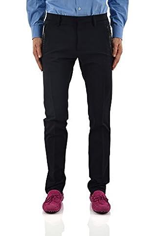 Dsquared2 Men's Pants Leather Inserts Blue - size 44