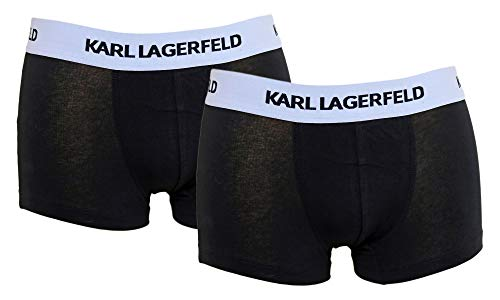 Karl Lagerfeld 2er Pack Herren Boxershorts schwarz/schwarz oder schwarz/weiß (schwarz/schwarz, L)