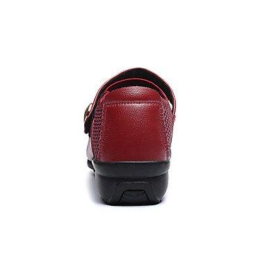 Scarpe da ballo-Non personalizzabile-Da donna-Danza moderna-Piatto-Di pelle Di pizzo-Nero Rosso Red
