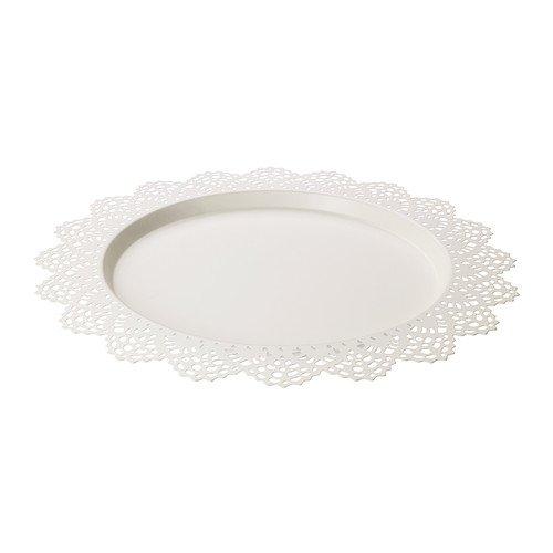 IKEA SKURAR Kerzen-/Dekoschale in weiß; (37cm)