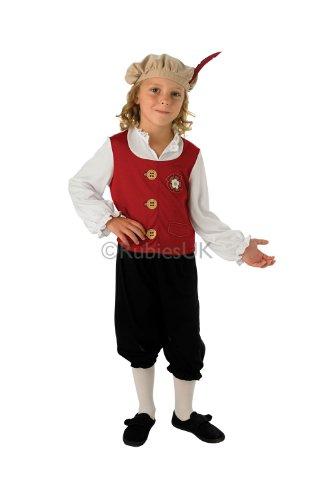 Kinder Tudor Jungen Kostüm Mittelalter King Outfit 3–4Yrs