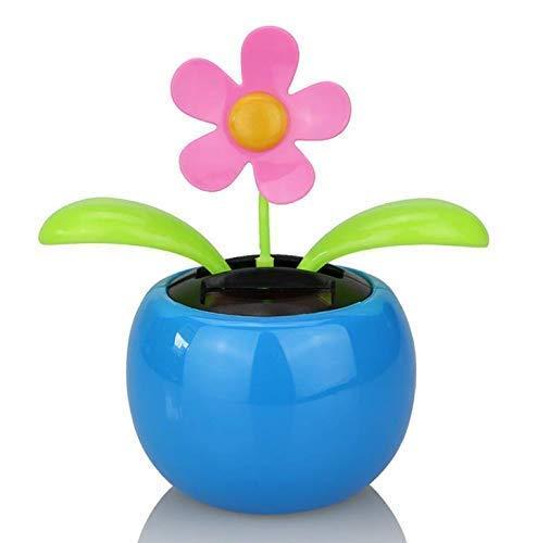 Gwill Licht Solar Planter Swing Moving Tanzen Solar Power Blume Blumentopf Swing Solar Auto Spielzeug Geschenk Home Dekorieren Pflanzen Farbe Zufällig -