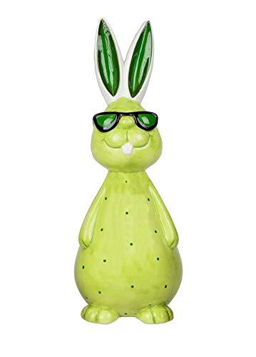 KLP Hase mit Sonnenbrille Oster Hasen Kaninchen Deko Garten Figur Dekohase Skulptur Statue